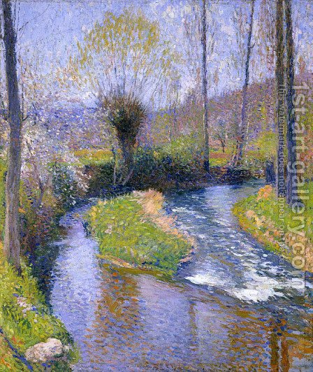 River Vert by Henri Martin - Reproduction Oil Painting
