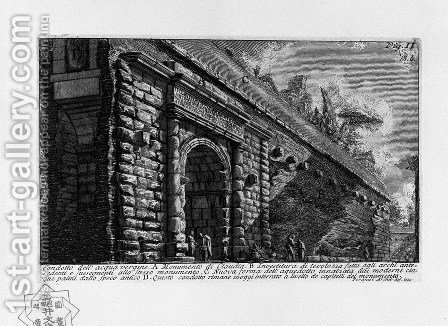 The Roman antiquities, t. 1, Plate XII. Aqua Alsietina. by Giovanni Battista Piranesi - Reproduction Oil Painting