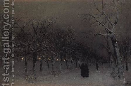 Boulevard in the evening. by Isaak Ilyich Levitan - Reproduction Oil Painting