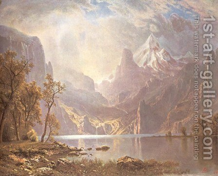 The Tahoe's Lake by Albert Bierstadt - Reproduction Oil Painting