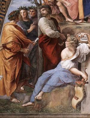 Reproduction oil paintings - Raphael - The Parnassus, from the Stanza delle Segnatura (detail)
