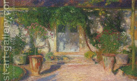 Terrace in Sun by Henri Martin - Reproduction Oil Painting