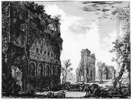 Vedute di Roma 14 by Giovanni Battista Piranesi - Reproduction Oil Painting