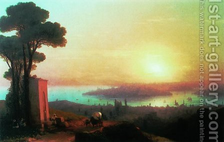 View of Constantinople 3 by Ivan Konstantinovich Aivazovsky - Reproduction Oil Painting