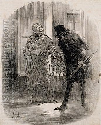 Tenants and owners by Honoré Daumier - Reproduction Oil Painting