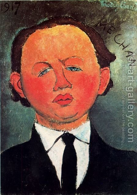 Oscar Miestchaninoff by Amedeo Modigliani - Reproduction Oil Painting