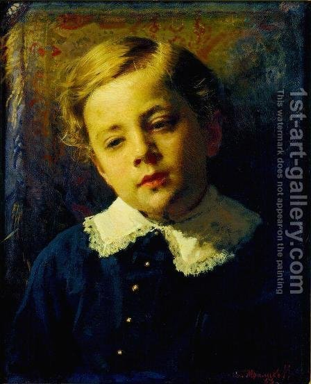 Portrait of Sergei Kramskoy, the Artist's Son by Ivan Nikolaevich Kramskoy - Reproduction Oil Painting