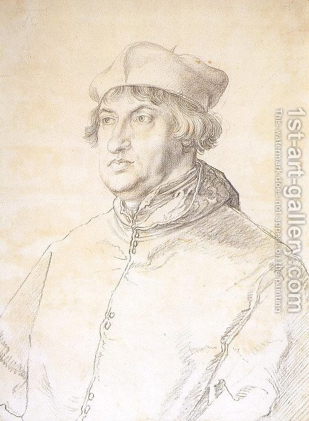 Cardinal Albrecht von Brandenburg by Albrecht Durer - Reproduction Oil Painting
