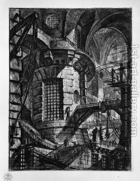 The Round Tower by Giovanni Battista Piranesi - Reproduction Oil Painting