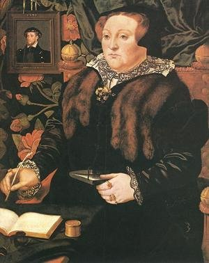 Hans Eworth reproductions - Portrait of Lady Dacre 1540