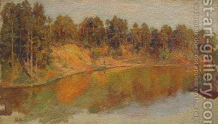 Forest Lake by Ivan Shishkin - Reproduction Oil Painting