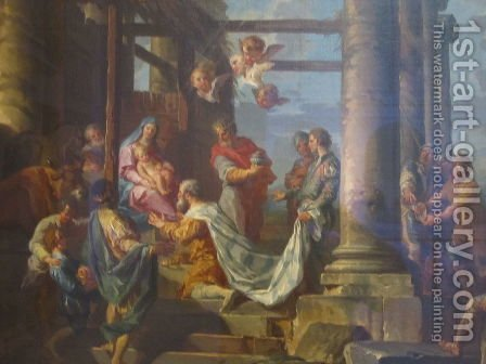 Adoration of the Shepherds, Adoration of the Magi by Giovanni Paolo Panini - Reproduction Oil Painting