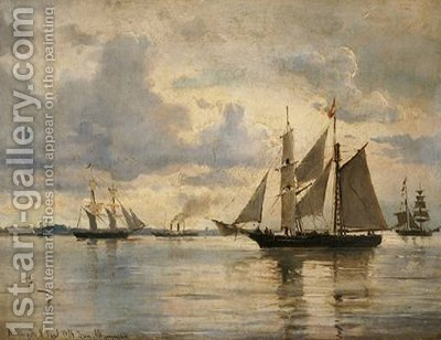Seascape 2 by Ioannis (Jean H.) Altamura - Reproduction Oil Painting