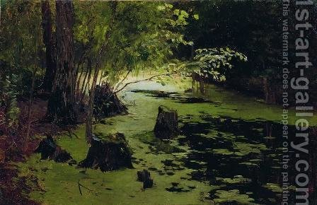 Water margin (A pond) by Isaak Ilyich Levitan - Reproduction Oil Painting