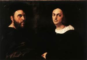 Reproduction oil paintings - Raphael - Portrait of Andrea Navagero and Agostino Beazzano