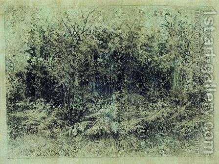 Anthill by Ivan Shishkin - Reproduction Oil Painting