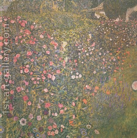Italian horticultural landscape by Gustav Klimt - Reproduction Oil Painting