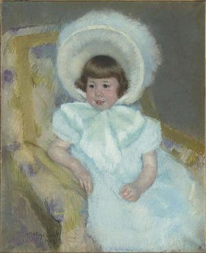 Reproduction oil paintings - Mary Cassatt - Portrait of Louise Aurora child Villeboeuf
