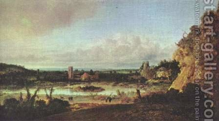 Panoramic landscape by Hercules Seghers - Reproduction Oil Painting