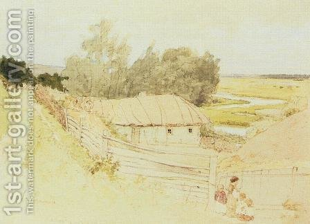 The Village of Mokhnachi near Chuguyev by Ilya Efimovich Efimovich Repin - Reproduction Oil Painting