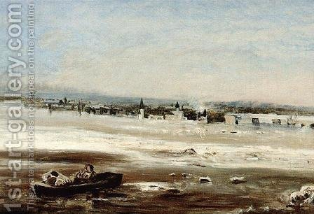 Drifting ice on the Volga by Alexei Kondratyevich Savrasov - Reproduction Oil Painting