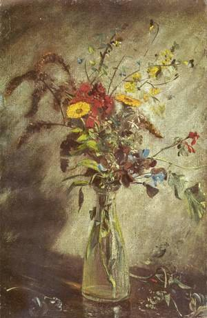 Reproduction oil paintings - John Constable - Flowers in a glass vase