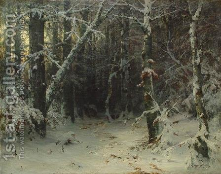 Winter Forest by Ivan Shishkin - Reproduction Oil Painting