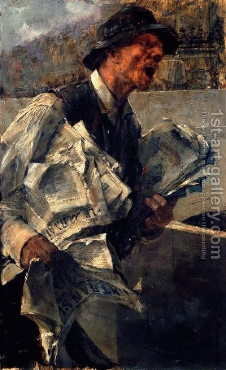 Newspaperman in Paris (The newspaper) by Giovanni Boldini - Reproduction Oil Painting