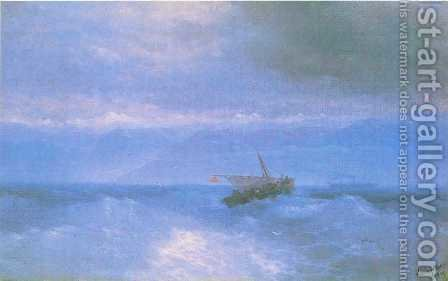 The Caucasian Range from the Sea by Ivan Konstantinovich Aivazovsky - Reproduction Oil Painting
