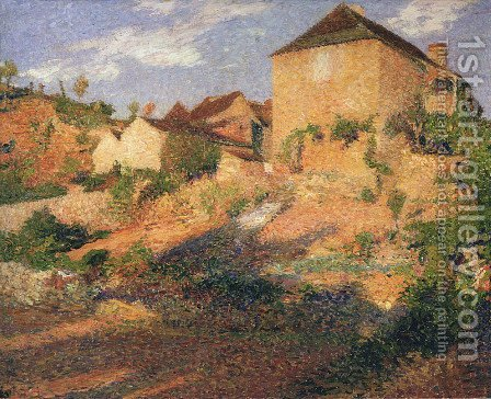 The old house by Henri Martin - Reproduction Oil Painting