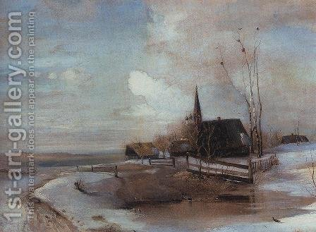Early Spring 2 by Alexei Kondratyevich Savrasov - Reproduction Oil Painting