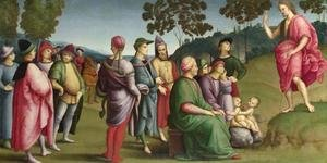 Reproduction oil paintings - Raphael - Saint John the Baptist Preaching