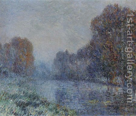 By the Eure River   Hoarfrost by Gustave Loiseau - Reproduction Oil Painting