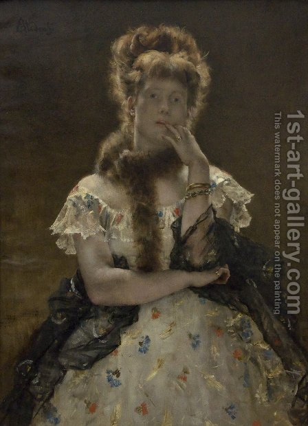 The Paris Sfinks by Alfred Stevens - Reproduction Oil Painting