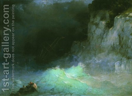 Storm 4 by Ivan Konstantinovich Aivazovsky - Reproduction Oil Painting