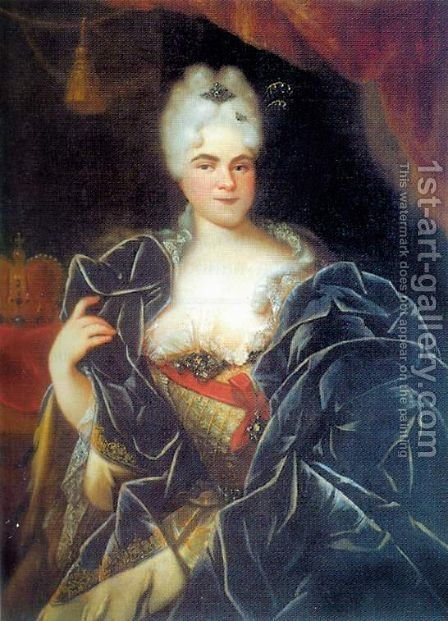 Catherine I of Russia by Ivan Nikitich Nikitin - Reproduction Oil Painting
