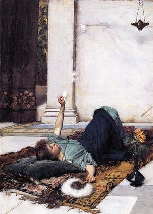 Reproduction oil paintings - Waterhouse - Its sweet doing nothing