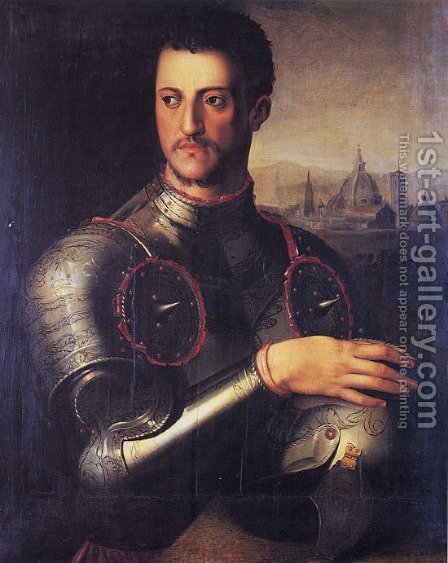 Portrait of the Grand Duke Cosimo I de' Medici by Agnolo Bronzino - Reproduction Oil Painting