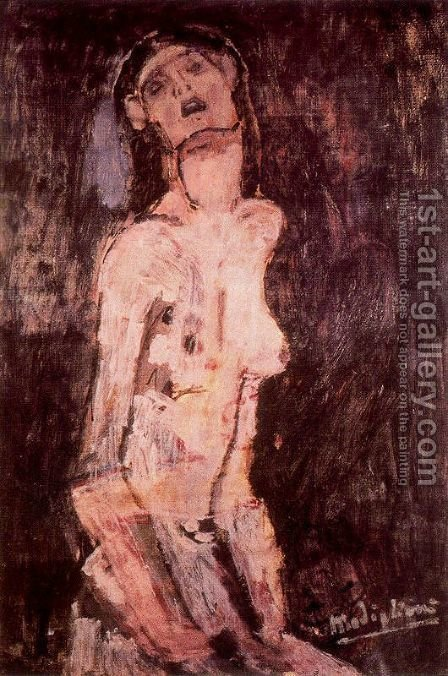 A suffering nude by Amedeo Modigliani - Reproduction Oil Painting