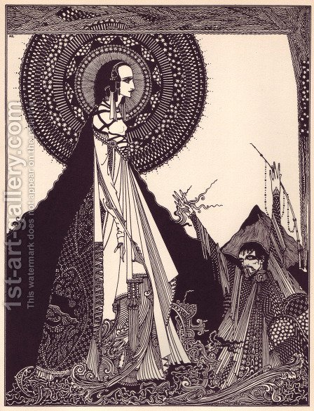 Tales of Mystery and Imagination by Edgar Allan Poe 4 by Harry Clarke - Reproduction Oil Painting