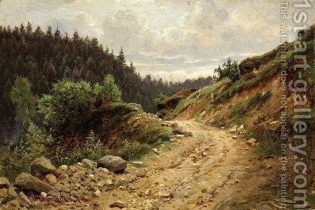 The road 2 by Ivan Shishkin - Reproduction Oil Painting