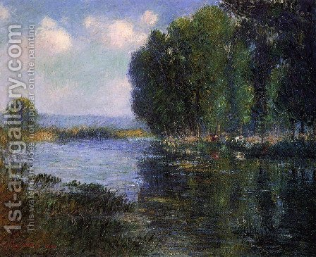 River Bend in Normandy by Gustave Loiseau - Reproduction Oil Painting