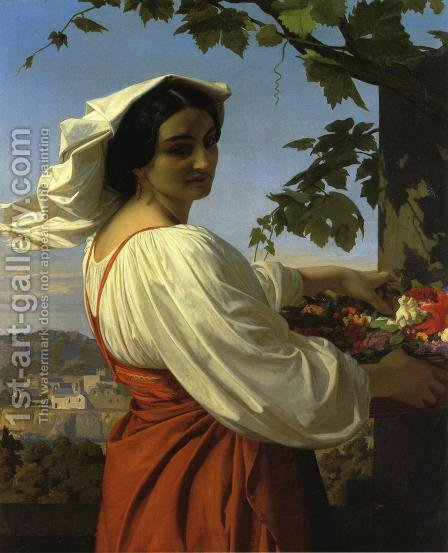 The Chiarrucia by Alexandre Cabanel - Reproduction Oil Painting