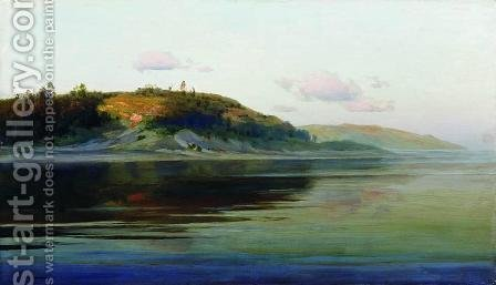 Summer evening. River. by Isaak Ilyich Levitan - Reproduction Oil Painting