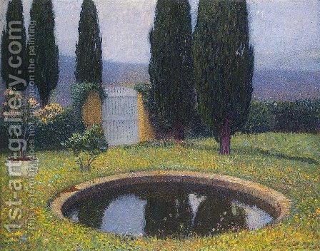 Fountain in Labastide du Vert by Henri Martin - Reproduction Oil Painting
