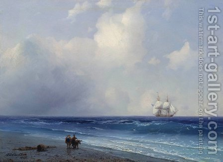 Sea view 3 by Ivan Konstantinovich Aivazovsky - Reproduction Oil Painting