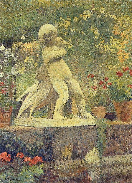 The Child with goose by Henri Martin - Reproduction Oil Painting