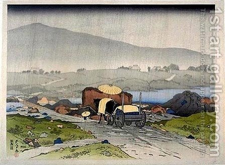 Rain at Yabakei by Goyo Hashiguchi - Reproduction Oil Painting