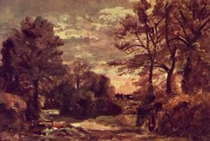 Reproduction oil paintings - John Constable - Country road
