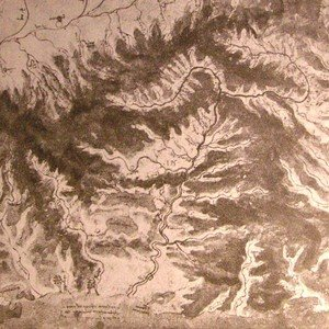 Reproduction oil paintings - Leonardo Da Vinci - Topographical drawing of a river valley